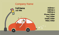Driving Illustration Business Card Template